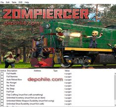 Zompiercer PC Oyunu Can, Envanter Trainer Hilesi İndir 2021