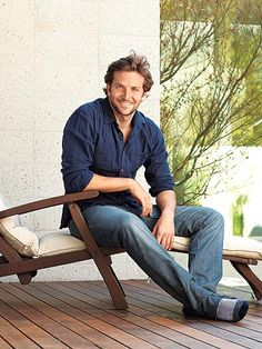 Use a denim Bradley Cooper to keep the deck casual this summer.