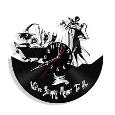 Jack Skellington Nightmare Before Christmas Vinyl Record Horloge Murale Cadeaux Décor