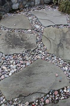 Outdoor Walkway 88 – decoratoo - front yard landscaping ideas with rocks Rock Walkway, River Rock Landscaping, Outdoor Walkway, Landscaping With Rocks, Front Yard Landscaping, Backyard Patio, Landscaping Ideas, Walkway Ideas, Patio Ideas