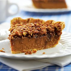The idea of combining two of our favorite desserts—pumpkin pie and pecan pie—turned into a dream-come-true recipe.