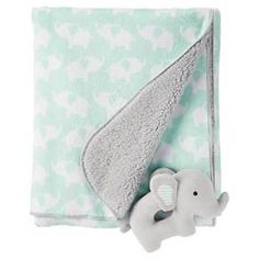 Snuggle your little one in the softness of the Just One You™ Made by Carter's Neutral Rattle Blanket in Green Elephants. This adorable baby blanket comes with a matching elephant rattle. Little Babies, Cute Babies, Baby Boy Blankets, Baby Bedroom, Carters Baby, Future Baby, Baby Quilts, Neutral, Baby Elephants