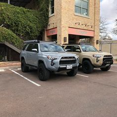 2017 Cement and 2016 Tan TRD Pro special colors. Suv Trucks, Toyota Trucks, Peterbilt Trucks, Toyota Cars, Fj Cruiser, Toyota Land Cruiser, Toyota 4runner Trd, Lifted 4runner, Toyota Tacoma