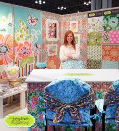 Josephine Kimberling in her booth at Surtex 2013, #331