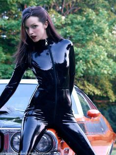 Latex catsuit Emily Marylin