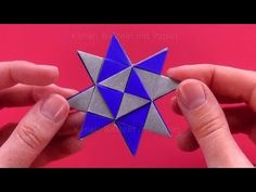 Christmas decorations: How to make paper stars for christmas Paper Stars, How To Make Paper, Creative Decor, Christmas Decorations, Paper Crafts, Rocks, Dads, Videos, Youtube