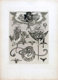 1902 'Documents Décoratifs Plate 55  © Alphonse Mucha