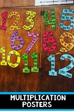 Multiplication posters for facts 1-15. Great classroom decor Math classroom #classroomdecorations #classroom #decorations #posters