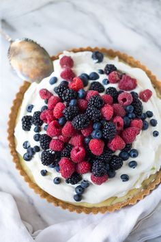 Summer Berry Tart with Shortbread Crust