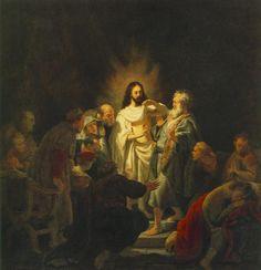 Рембрандт ван Рейн. Неверие апостола Фомы. 1634.                                        .