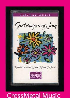 HOSANNA MUSIC! Outrageous Joy Live (1998 Cassette Tape) PRAISE WORSHIP CCM  #ChristianGospel