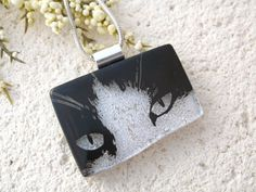 Cat Necklace Dichroic Glass Necklace Dichroic Glass by ccvalenzo