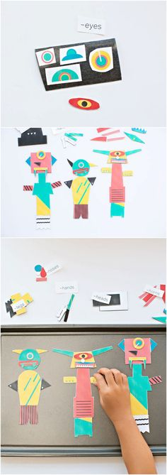 Mix and Match Magnetic Monsters With Free Printable Designs. Let kids create their own monsters over and again on a magnetic sheet.