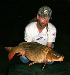 2am was the magic hour for this lovely Chocolate Brown Common Carp to take my bait. During the hot and dry Southern Californian summer, the cooler evenings are often the best time to fish. The difficulty is finding a lake that allows night fishing in the first place! Again showing the high quality of fish the Los Angeles area nurtures... Late August 2009.  #CyprinusCarpio #CommonCarp #BigCarp #CarpFishingInAmerica #HowToCatchCarp #AmericanCarpSociety #WayneBoon