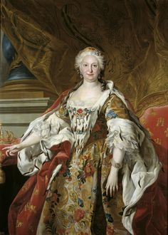 LOUIS-MICHEL VAN LOO, La reina Isabel de Farnesio, 1739, Museo del Prado. (1692-1766), segunda esposa de Felipe V, madre de Carlos III.