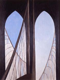 Georgia O'Keefe, Brooklyn Bridge (hangs in the Brooklyn Museum)