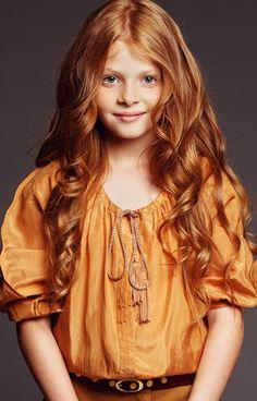 Russian child model and actress Valentina Lyapina.