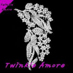 Bridal Wedding Swarovski Crystal Silver Tone Hair Comb HM 0061 | eBay