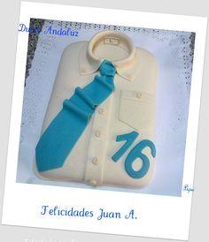 Magnífica tarta camisa llena de detalles. Felicidades a Dulce Andaluz.