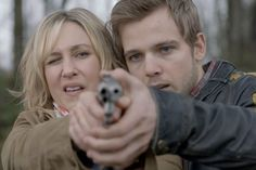 "Midnight Pictures - Bates Motel - AETV.com pic 6/23. Dylan (Max Thieriot) gives Norma her first shooting lesson after she begs him to get her a gun. Norma's not the most attentive student, but she eventually agrees to listen to her eldest son and manages to hit the target. Dylan is impressed, but Norma's excitement evaporates as she tells him how scared she is of Abernathy. He reassures her, telling her that Romero is ""the man"" in White Pine Bay, and she should trust him. They refocus..."