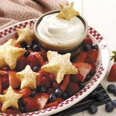 Stars and Stripes Forever Dessert Recipe from Taste of Home -- shared by Gail Sykora of Menomonee Falls, Wisconsin