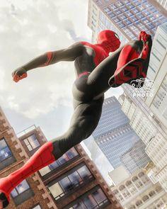 Spiderman Far from home Black Suit Marvel Comics Superheroes, Marvel Art, Marvel Memes, Marvel Characters, Marvel Avengers, All Spiderman, Amazing Spiderman, Marvel Wallpaper, Marvel Cinematic Universe