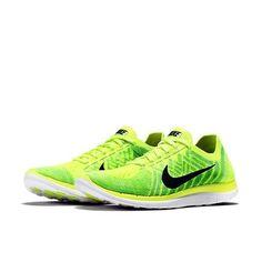 big sale 1b874 fcae9 Nike 4.0 Flyknit 2015 Mens Running Shoes 12 Volt Green 717075 700   eBay