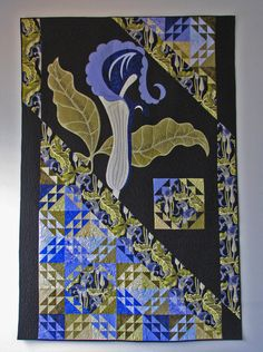 "Award winning quilt- ""Jack in the Pulpit ""."
