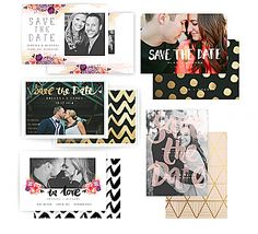 Painterly Floral Save the Date Cards