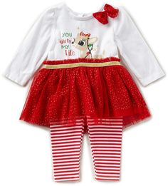 GYMBOREE HO HO Holiday Shop Fair Isle Leggings Santa/'s Little Helper Shirt 12-18