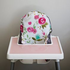 PREORDER: Rose Floral // IKEA Antilop Highchair by YeahBabyGoods