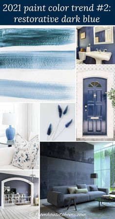 These 2021 paint color trends are great! So helpful in seeing what the latest colors are and how they look in interior design. These interior color trends definitely provided home painting inspiration for my room decor. | Home Decor Trends Best Blue Paint Colors, Most Popular Paint Colors, Paint Colors For Home, House Colors, Paint Colours, Wall Colours, Bedroom Paint Colors, Interior Paint Colors, Interior Decorating Tips