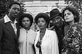 Survivors of the Jonestown massacre sit outside the old People's Temple on Geary Blvd. From left to right: Julius Evans, Sandra Evans, Leslie Wilson-Fortier, Richard Clark and Diane Louie. M Image, Rich Image, Mike Brant, Jonestown Massacre, Extraordinary People, Royalty Free Photos, Black History, Photo Library, Art Images