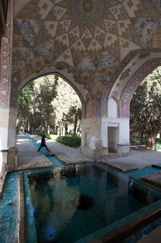 Fin Garden located in Kashan, Iran, is a historical Persian garden.