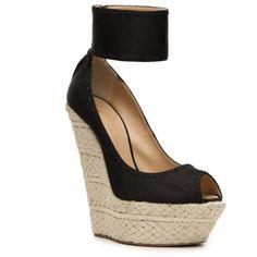 Giuseppe Zanotti Satin Wedge Sandal (10 775 UAH) ❤ liked on Polyvore featuring shoes, sandals, wedges, women, peeptoe shoes, wedges shoes, peep toe wedge sandals, peep toe wedge shoes and giuseppe zanotti sandals #giuseppezanottiheelspeeptoe
