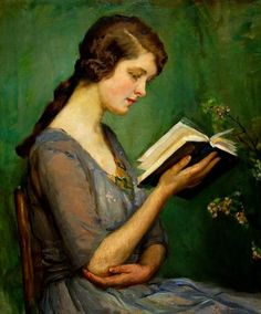 Molly Reading a Book, c.1940 by Rose Mead