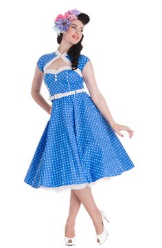Melanie blue/white