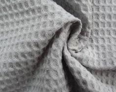 Wafelkatoen l.grey platte wafel