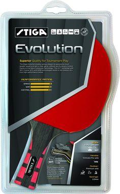 STIGA Evolution Table Tennis Racket Ping Pong Paddle