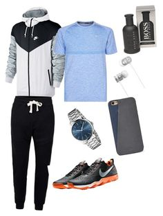 """mens active wear"" by danniellelightfoot ❤ liked on Polyvore featuring NIKE, Topman, Gucci, Beats by Dr. Dre, FOSSIL, HUGO, men's fashion and menswear"