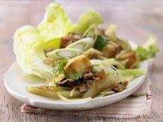 Gebratenes Tofu-Pilz-Gemüse - smarter - Kalorien: 132 Kcal | Zeit: 45 min.