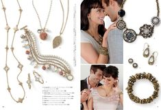 Sugar Dusted earrings (pg. 35), Gold Coast necklace (pg. 24), Gilded Rose necklace and bracelets (pg. 26) & Crave rings (p...
