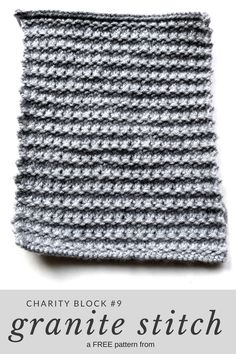 """Knit a 7""""x9"""" block for a charity afghan (the size required for Warm Up America) with this free pattern from Squigglidinks"""