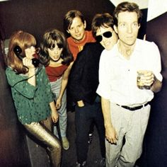 The B-52s looking unusually casual. Love the girls outfits though.
