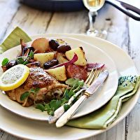 Greek-Style Chicken Skillet Dinner by Good Life Eats