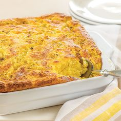 "Cauliflower ""Rice"" Spoon Bread"