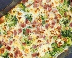 Clafoutis au brocoli et au jambon : http://www.fourchette-et-bikini.fr/recettes/recettes-minceur/clafoutis-au-brocoli-et-au-jambon.html