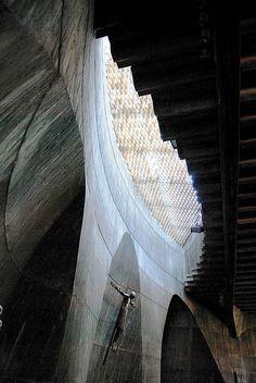 Santa Ana Fisac. Interior Presbiterio Lucernario.  B 0298 by javier1949, via Flickr