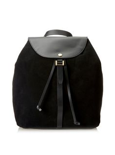 www.myhabit.com  Convertible bucket style in soft unlined suede with smooth leather trim, drawstring closure, side-zip entrance, 1 interior slip pocket and adjustable convertible straps