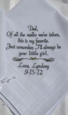 Wedding Gift For Father of the Bride by CanyonEmbroidery on Etsy, $25.50